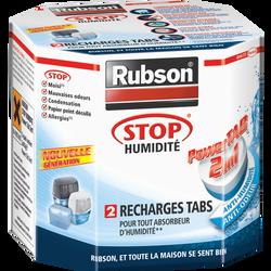 """Recharges """"Power Tabs 2 en 1"""" RUBSON, pour absorbeur Stop Humidité, 2unités"""