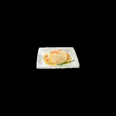 Timbale aux noix de Saint-Jacques sauce beurre blanc