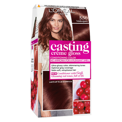 Coloration ton sur ton CASTING Crème Gloss, acajou n°550