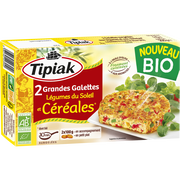 Tipiak Grandes Galettes Aux Légumes Du Soleil & Céréales Bio Tipiak, 2x100g