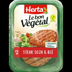 Steak de soja et blé Bon Végétal HERTA, 150g