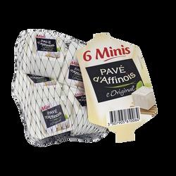 Fromage pasteurisé mini l'original PAVE D'AFFINOIS, 31%mg, x6 soit 180g