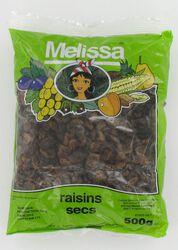 Raisins secs  MELISSA, sachet de 500g