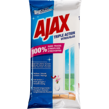 Lingettes spéciales vitres AJAX, x40