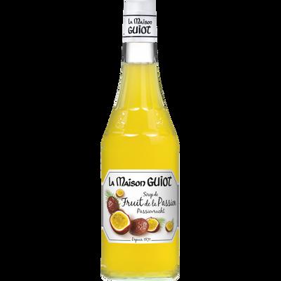 Sirop fruit de la passion LA MAISON GUIOT, bouteille de 70cl