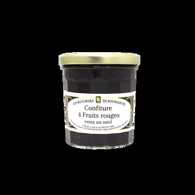 Confiture 4 fruits rouges au miel RUCHERS DE BOURGOGNE, 375g