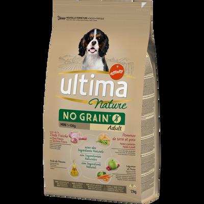 Croquettes pour chien mini à la dinde no grain ULTIMA NATURE, sac de 1,1kg