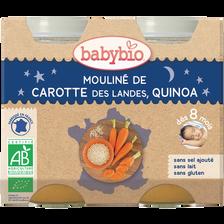 Mouliné de Carotte des Landes & Quinoa BABYBIO, dès 8 mois, 2X200G