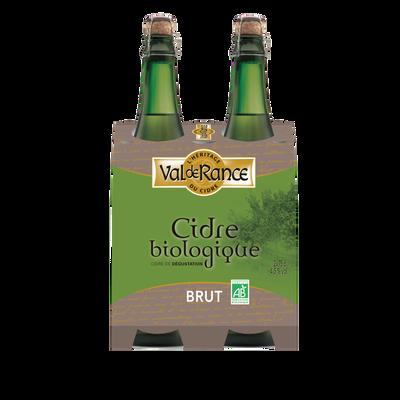 Cidre de dégustation biologique brut VAL DE RANCE 2x75cl