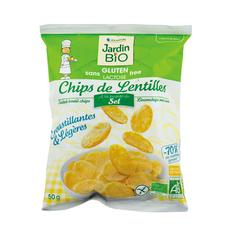 Chips lentilles sans gluten Jardin Bio