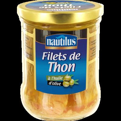 Filets de thon à l'huile d'olive NAUTILUS, 135g