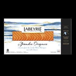 Saumon Atlantique de Norvège fumé au bois de chêne LABEYRIE, x8 soit 310g