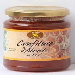 Confiture d'abricots au Miel, 350g