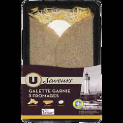 Galette garnie 3 fromages U SAVEURS, 195g