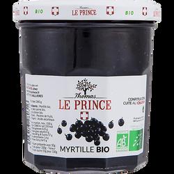 Confiture myrtille BIO, THOMAS LE PRINCE, pot en verre de 340g