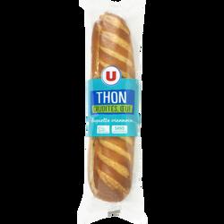 Sandwich pain spécial viennois filet thon émincé oeuf tomate salade, U, 230g