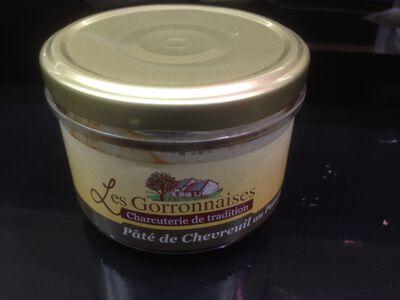 Conserves pâté de chevreuil, LES GORRONNAISES, 200g