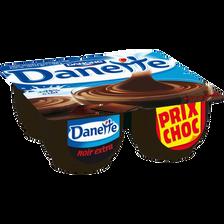 Danette crème dessert chocolat noir extra DANONE, 4 untiés, 125g