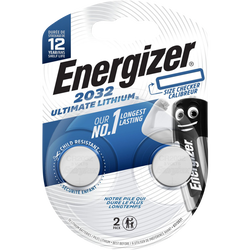 Piles ENERGIZER, ultimate lithium, CR2032, 2 unités