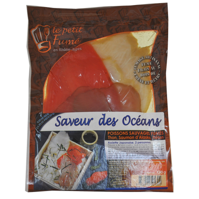 Assiette des Océans (thon, espadon, sockeye fumés) LE PETIT FUMET, 130g