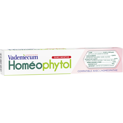 Dentifrice Homéophytol VADEMECUM, tube de 75ml