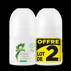 Déodorant femme bio pouvoir des plantes arbre à thés DOVE, 2x50ml
