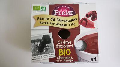 Crème dessert au chocolat de St-Domingue 4x100g