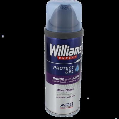 Gel à raser spécial barbe de 3 jours WILLIAMS, flacon de 200ml