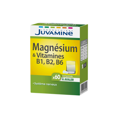 Magnésium & vitamines B6,B2,B1, JUVAMINE, x60 comprimés