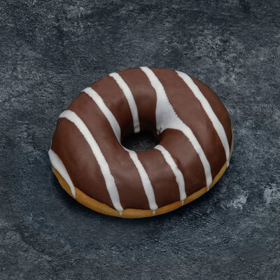 Donut fourré chocolat décongelé, 4 pièces +2 offerts, 400g