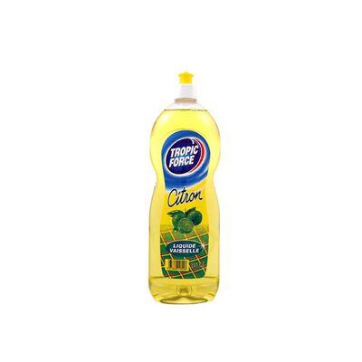 Liquide vaiselle parfum citron TROPIC FORCE,TROPIC FORCE,75cl