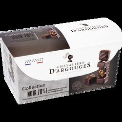 Assortiment chocolat collection noir LES CHEVALIERS D'ARGOUGES ballotin 175g