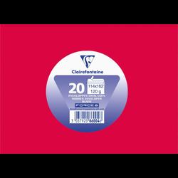Enveloppe auto adhésive CLAIREFONTAINE, 114x162mm, rouge groseille, papier 120g, 20 unités