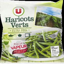 Haricots verts extras fins précuits U, sachet de 1kg