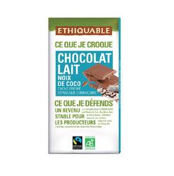 CHOCOLAT LAIT NOIX DE COCO TABLETTE BIO 100G