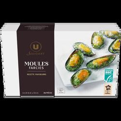 Moules MSC farçies au beurre ail & persil Saveurs U, 250g