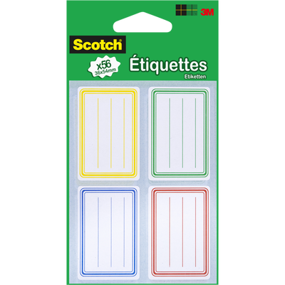 Etiquettes écolier SCOTCH, 25x50mm, pack de 56