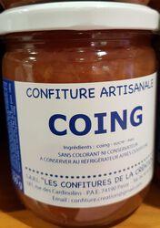 Confiture artisanale de Coing, LES CONFITURES DE LA CREATION, pot de 500G