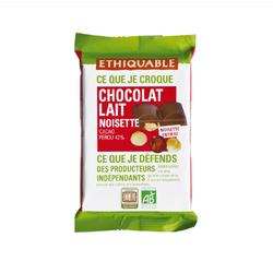 Chocolat lait 42% noisette entière Pérou BIO 100g