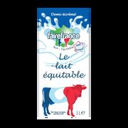 Fairefrance Lait 1/2 Écrémé Fairfrance Le Lait Equitable Brique 6x1 Litre