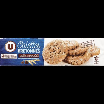 Galettes bretonnes aux pépites de chocolat U, 130g