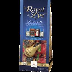 """Chocolats noirs fourrés liqueurs assorties """"royal des lys"""" ABTEY, sachet de 18 unités, 180g"""