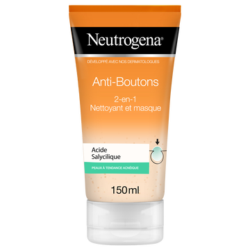 Neutrogena Nettoyant Visage Et Masque 2 En 1 Spot Proof Visibly Clear Neutrogena,150ml