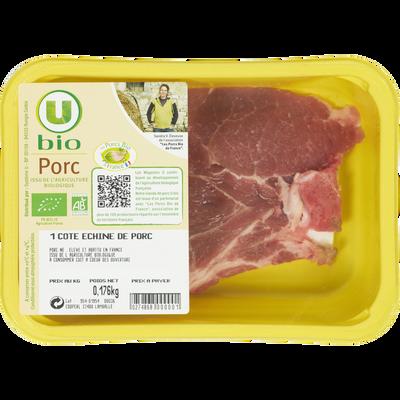 Porc - Côte échine, U BIO, France, 1 pièce