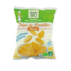 Chips de lentilles aux oignons sans gluten Jardin Bio - 50g