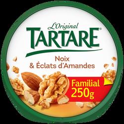 Fromage pasteurisé aux noix et aux éclats d'amandes TARTARE, 37%mg, 250g