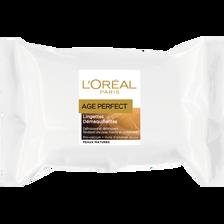 Lingettes démaquillantes peaux matures Age Perfect DERMO EXPERTISE, 25sachets
