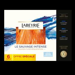 Saumon sauvage Pacifique LABEYRIE, x6 soit 210g