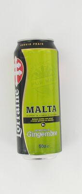 Boisson maltée sans alcool au gingembre Malta LORRAINE, 50cl