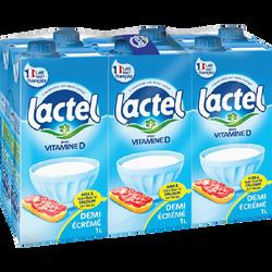 Lait 1/2 écrémé UHT Lactel, 6x1l